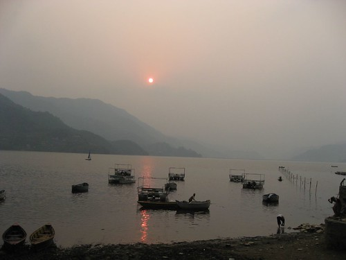 Sunset over Phewa Lake