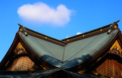 Smiling roof (unlimited inspirations) Tags: travel blue autumn roof sky brown building nature lines japan wall architecture buildings fun gold lights design asia flickr colours shadows creative angles style best imagine unforgettable unlimitedinspirations