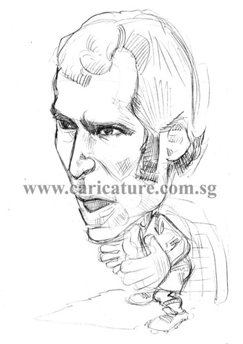 Caricature of Petr Cech pencil sketch watermark