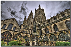 Hogwarts Cathedral (vgm8383) Tags: uk england church abbey architecture cathedral gothic harrypotter norman nave gloucester hogwarts crypt middleages cloisters hdr pinnacles gloucestercathedral gothicarchitecture 11thcentury transept decoratedgothic fanvaultedroof