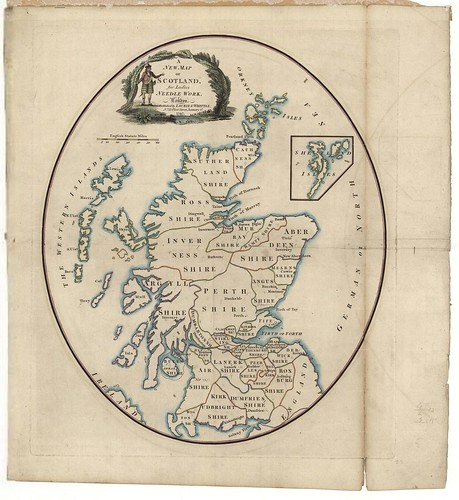 'A new map of Scotland for ladies needlework' 1797