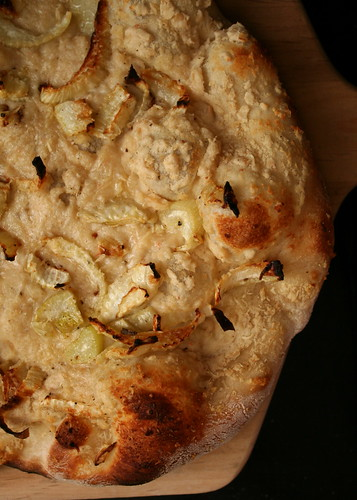 Fennel Pizza with White Bean Puree