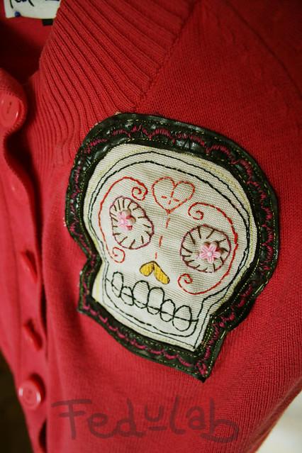 Día de los Muertos short sweater (detail)