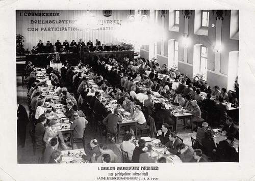Congress of Czechoslovak Psychiatrists in Lázně Jeseník, 1959.