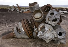 B-20 aircraft wreckage, crashed 1948, Higher Shelf Stones, Peak District (dobraszczyk) Tags: peak district national park