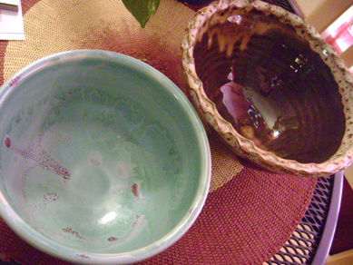 bowls from Empty Bowls event at AJ's