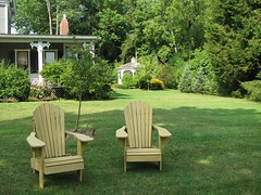 Farnsworth Residence (1882) - Adirondack chairs on south lawn