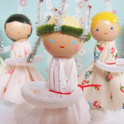 Santa Lucia dolls by Alicia Paulson