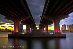 Cliche Photo of MacArthur Causeway in HDR (Michael Pancier Photography) Tags: bridge blue sunset usa florida miami hdr causeway fineartphotography naturephotography seor downtownmiami miamiskyline macarthurcauseway naturephotographer floridaphotographer michaelpancier michaelpancierphotography colorphotoaward ultimateshot diamondclassphotographer downwithdigital isuredowishihadmadphotoskillslikemyflickrfriendmikejonesphoto iamsojelousofmikesobviouslysuperiorphotographyskills ohwelliguessilljustneverbeastalentedasmike iwanttobelikejones butiwanttosaveuptobya8x10linnhofflikejones clichejustlikejones iuseapsfilm wwwmichaelpancierphotographycom seorcohiba