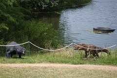 Postosuchus and Friend at Jurassic Garden (cuyahogabend) Tags: gardens dino dinosaur powell jurassic