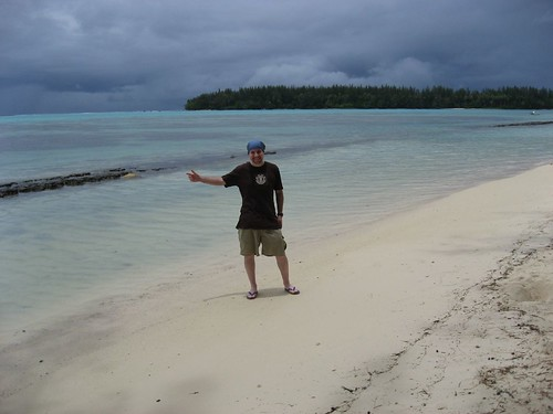 Skinny me on the beaches of Moorea, French Polynesia