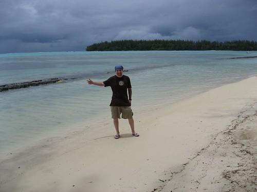 Skinny me on the beaches of Moorea, French Polynesia