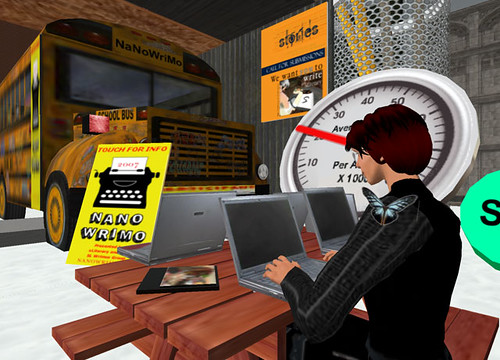 Dale Innis at the Second Life NaNoWriMo place