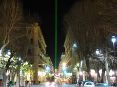 Luce verde dalla torretta di Savona