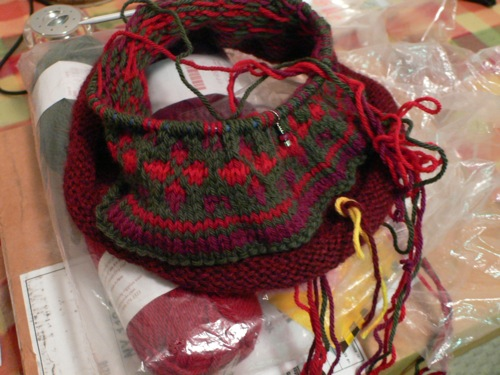 Fair Isle Hat In Progress