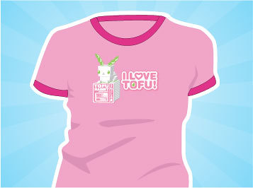 I Love Tofu shirt : Asian iCandy Store, Unique Asian Arts and Gifts From Independent Artists :  indie food women shirt