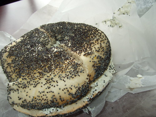Kupel's Poppy Seed Bagel with Herb Cream Cheese