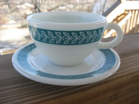 Pyrex Bluegrass Tableware Cup