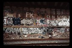 brooklyn bombs (street stars) Tags: brooklyn graffiti tracks cram pk seam lask chip mod gothamist nyc ny urban streetphotography film 35 mm bess r3m rangefinder voigtlander expired deso ceal mope