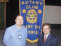 Congressman Bilirakis speaks with members of Plant City's Rotary Club