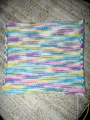 Wash cloth finished - side 2
