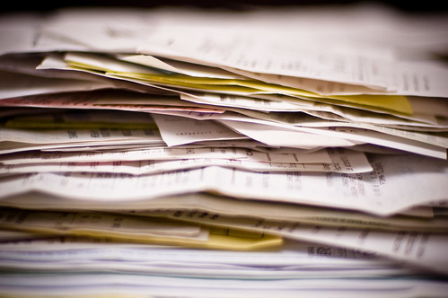 stack of paperwork