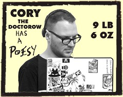 Cory the Doctorow has a Poesy (remixed from cc photo by alvy)