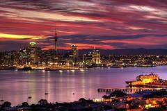 Auckland skyline sunset 작성자 Kenny Muir