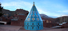 (Alieh) Tags: blue architecture persian iran persia mosque iranian  abyaneh esfahan panaroma isfahan   ontheroof    aliehs alieh        iranmapcom