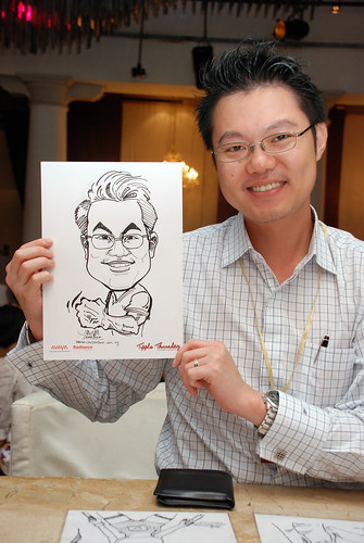 caricature live sketching Singtel Radiance Communications Avaya 9