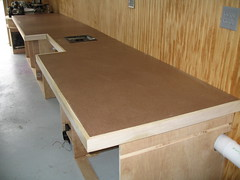 Miter Bench and Storage 1