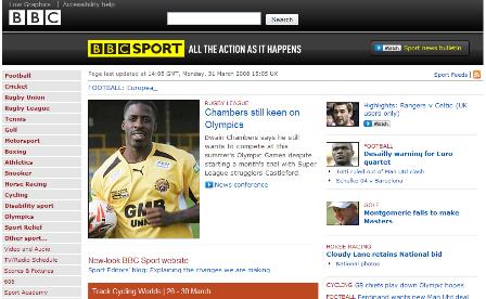 BBC revamped sport section
