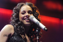 03/27/2008. US singer Alicia Keys live in Paris.