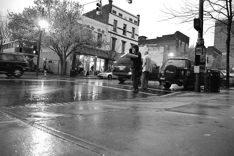 Asheville in the Rain