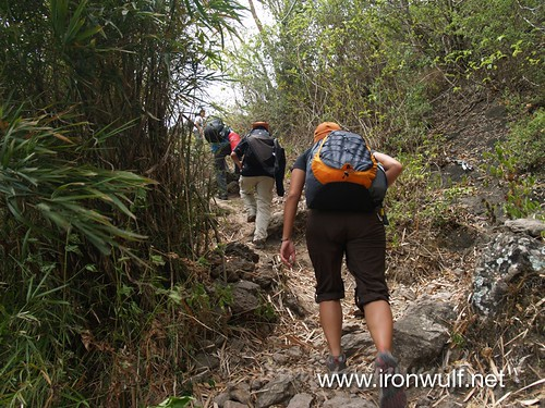 Hiking up at Mt Daguldol