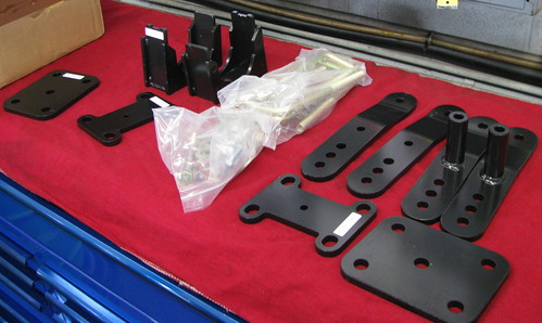 Tundra Racing leveling kit parts.