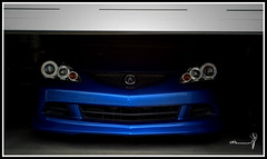 Lurking For It's Prey (Tov Photography) Tags: door blue car sony garage automotive headlight alpha acura coupe integra dc5 garagedoor rsx acurarsx vbp vividbluepearl sonyalpha fotowave hidheadlights