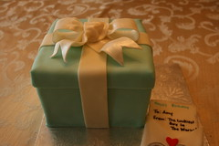 Tiffany box cake (irresistibledesserts) Tags: cake card envelope tiffany engagment