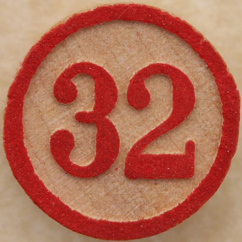 Bingo Number 32 by Leo Reynolds.