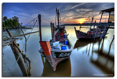 Good Ol' Fishing Boats (DanielKHC) Tags: old longexposure sunset boats interestingness fishing nikon bravo village fishermen jetty explore malaysia kuala hdr selangor bagan pasir d300 sigma1020mm themoulinrouge photomatix tonemapped nd8 interestingness76 7exp danielcheong megashot danielkhc theperfectphotographer explore01may08