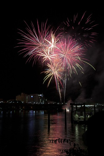 Fireworks on Brisbane River