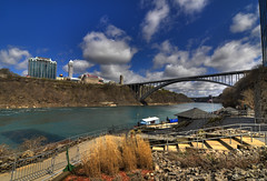 Sunny Rainbow Bridge (Island Capture (aka Silverph or psilver)) Tags: ny newyork water niagarafalls wicked hdr rainbowbridge highdynamicrangeimaging teampilipinas nikond300