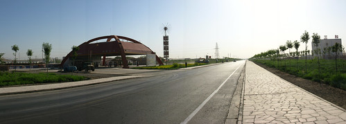 Entering the city of Shanshan, Xinjiang Province, China