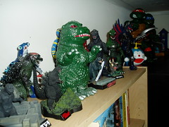 toy shelf - godzilla, gamera, doreamon (casio_beatnik) Tags: toys godzilla monsters kaiju gamera doreamon gigan vynilfigures