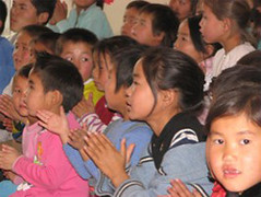 Kids from the Lotus Child Centre in Mongolia