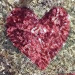 Pink sequin heart thumbnail