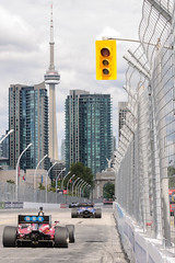 Indy Lights, Front Straight, Toronto 2016 (Richard Wintle) Tags: hit honda indy toronto ontario canada frontstraight cntower princesgate catchfence firestone lights indycar verizon exhibitionplace streetsoftoronto fanfriday