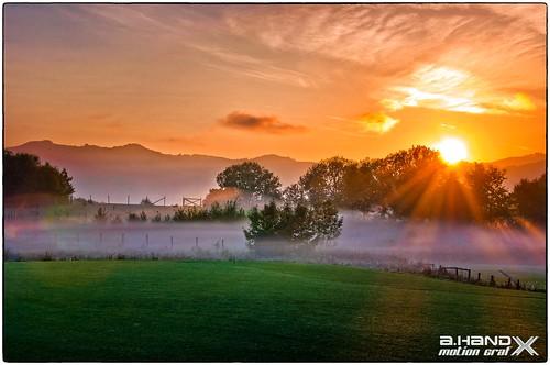Sonnenaufgang über dem Attersee