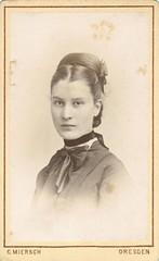 Dresden woman wearing a velvet choker (sctatepdx) Tags: cdv cartedevisite portrait oldportrait antiqueportrait dresden germany carlmiersch 1870s victorianwoman victorianportrait