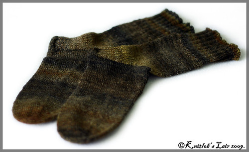 calico handspun socks 4